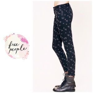 Free People Ditsy floral jeans - charcoal
